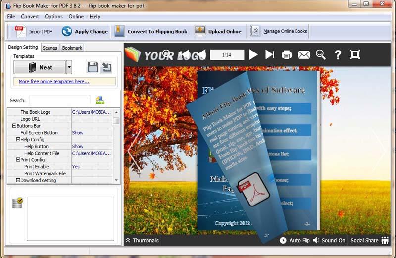 Windows 7 Page Flip eBook Software(Flip PDF) 4.0 full