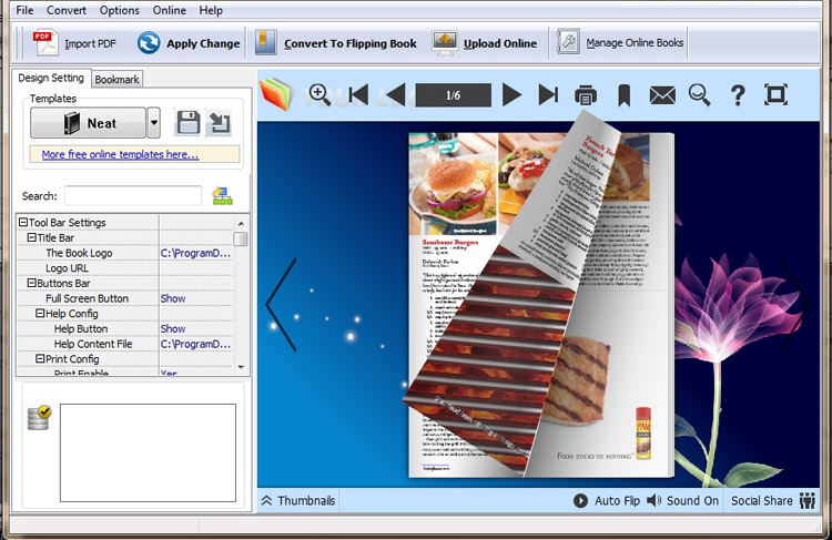 Windows 7 PDF to FlipBook Convertor (Flip PDF) 4.0 full