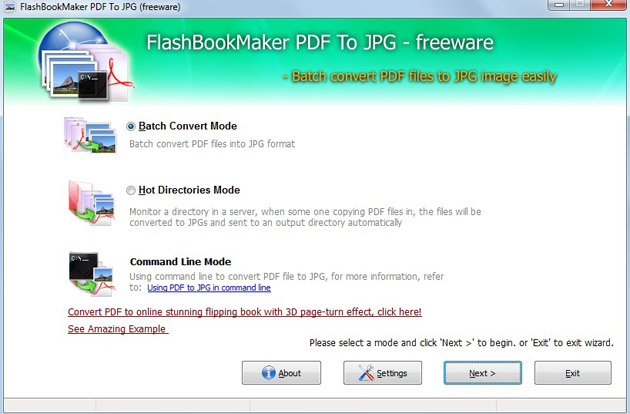 Free FlashBookMaker PDF to JPG