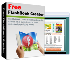 Create flash book from pdf with 3d book flash page sliding effect.