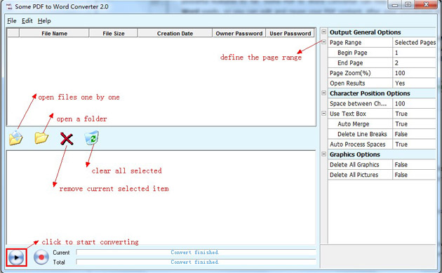 Some PDF to Word Converter full screenshot