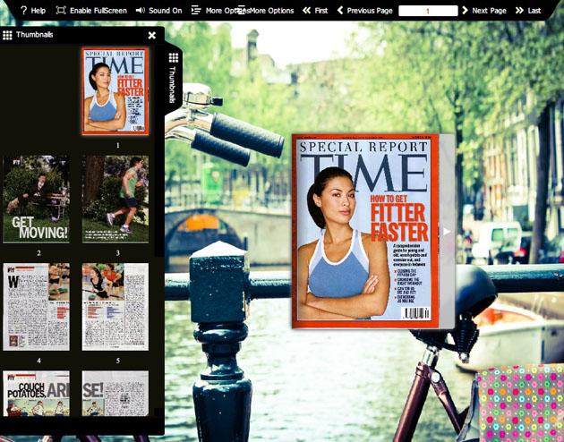 Flash flip book theme of Bicycle