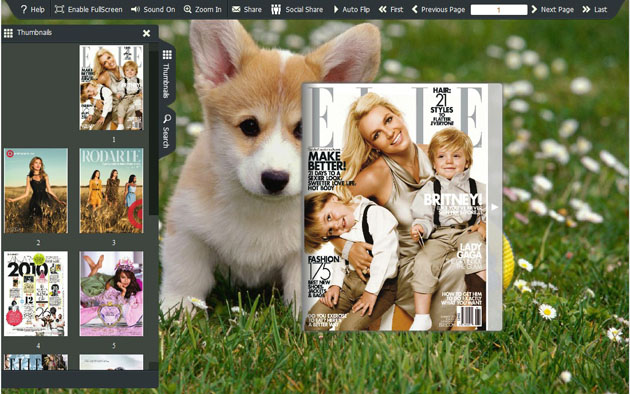 FlashBook Templates for Cute Dog Style