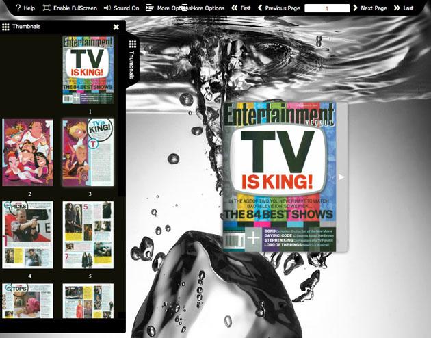 Flash flip book theme of Ice Water