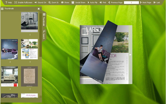 Windows 7 FlashBook Templates for Leaf Style 1.0 full