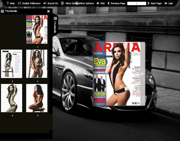Flash flip book theme of Monochrome Cars 1.0