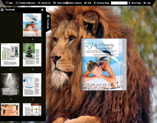 Flash flip book theme of Wild Life 1.0 full